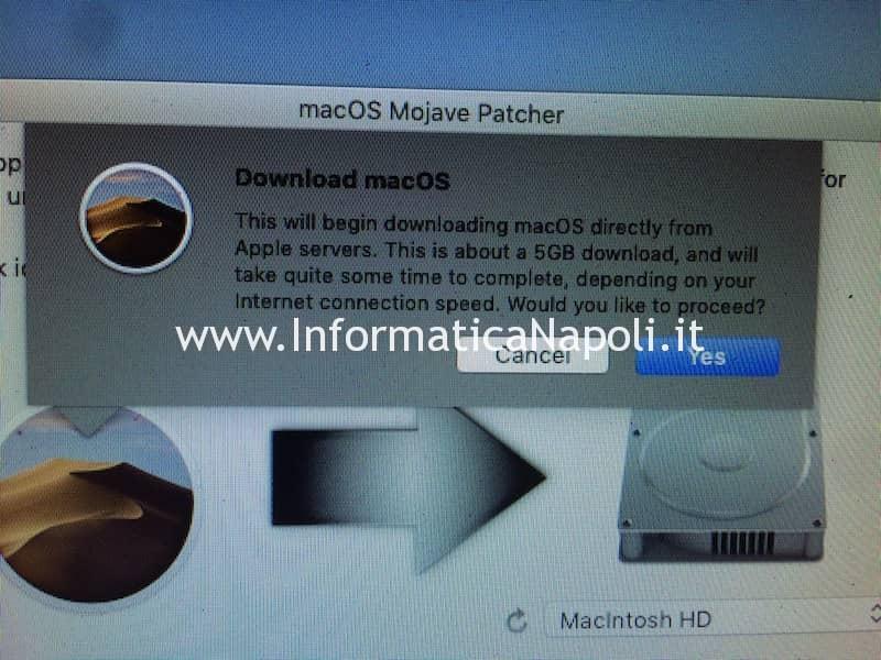 scaricare mojave per macbook