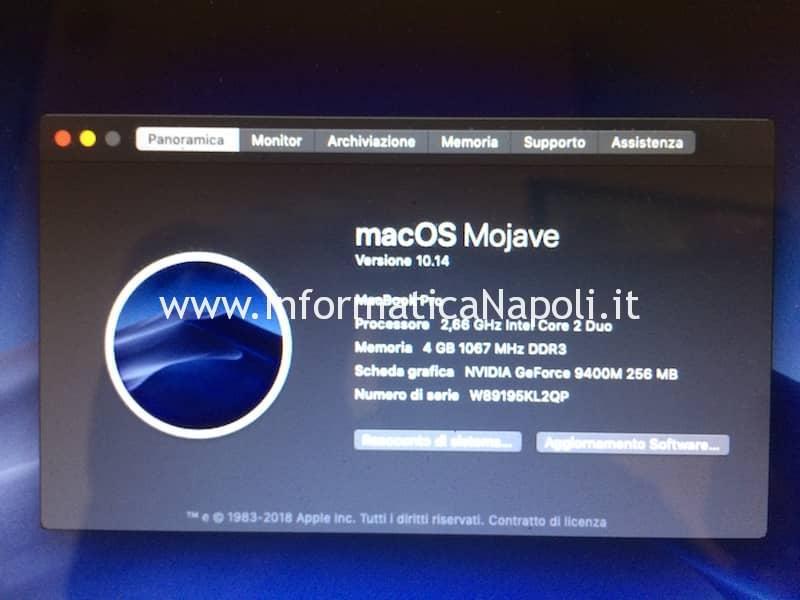 Mojave su vecchi sistemi Mac iMac