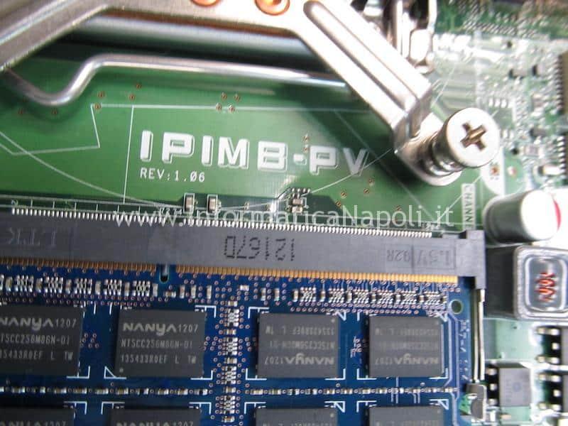 problemi scheda madre IPIMB-PV REV: 1.06 Dell XPS One 2710