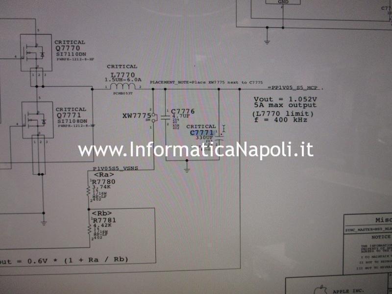 come riparare MacBook Pro 15 2008 820-2330-A power problem no power