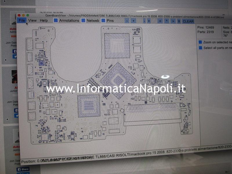MacBook Pro 15 2008 820-2330-A power problem no power non si accende
