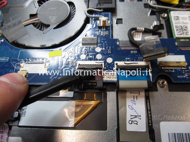 aprire smontare riparare Lenovo ThinkPad Yoga 12 Business Ultrabook SL10G59249 ZIPS3 LA-A342P