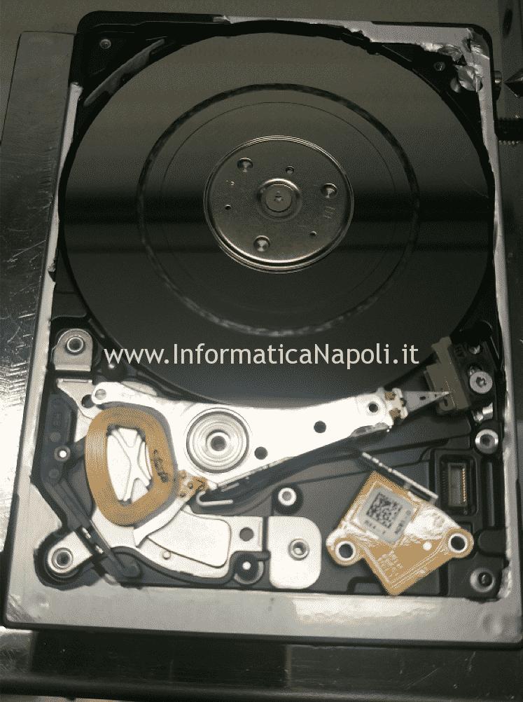 recupero dati Distacco testina graffi profondi piattello Hard Disk