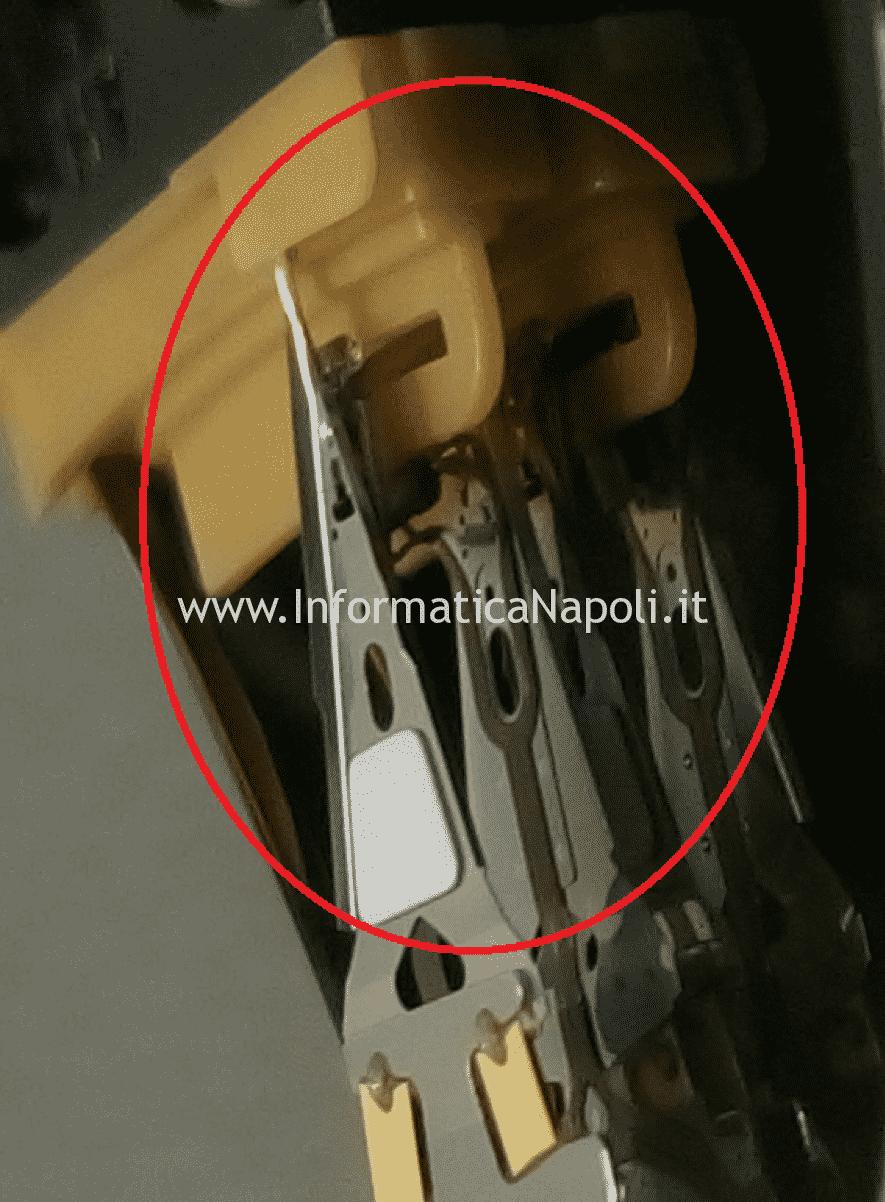recupero dati sostituzione testine Distacco testina graffi profondi piattello Hard Disk