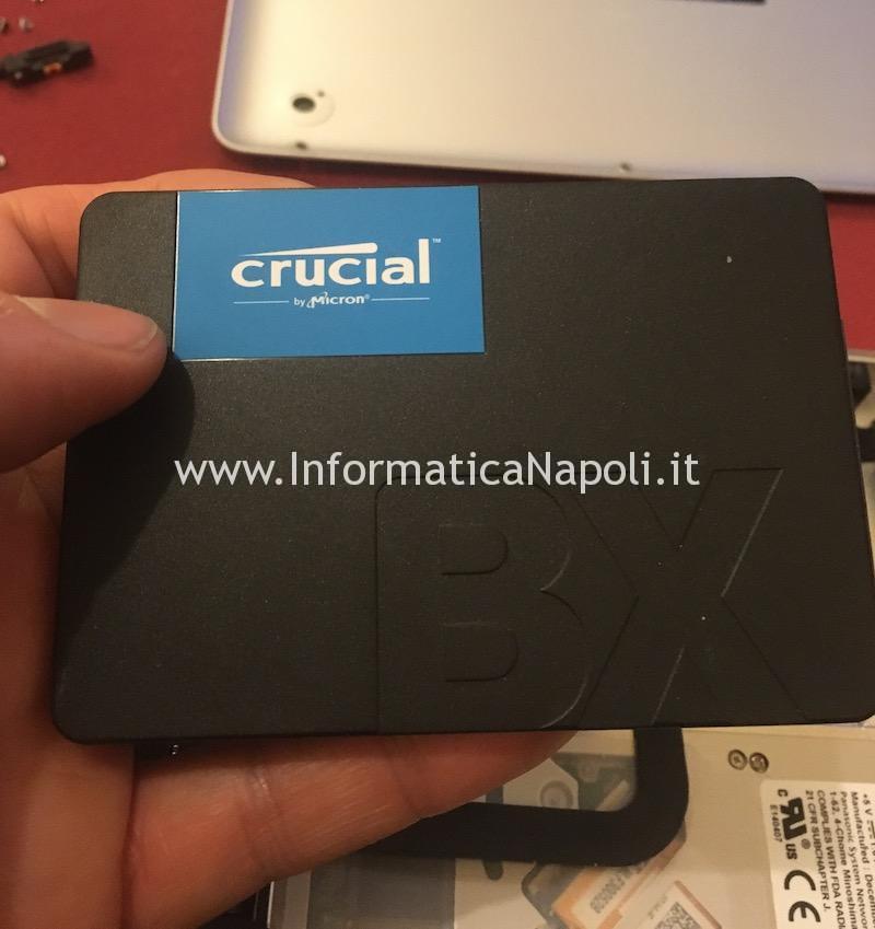 ssd crucial BX su MacBook