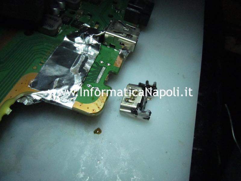 sostituire connettore HDMI scheda madre logic board PS4 PRO NVA-001 1-981-472-21