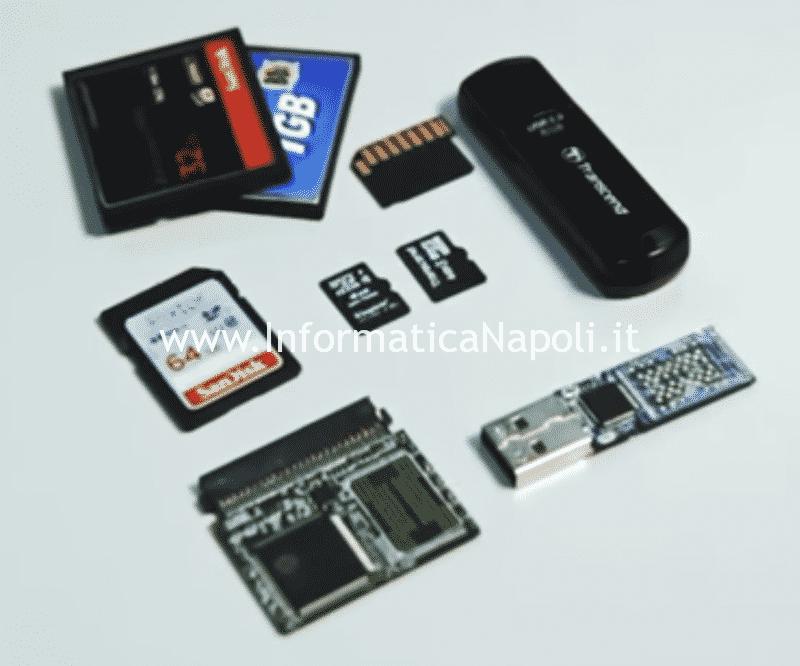 recupero dati da memory card chiavette usb SD