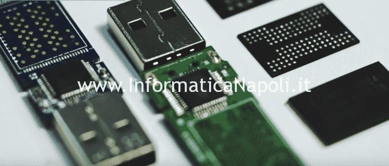 Recupero dati NAND chiavette memory card SSD