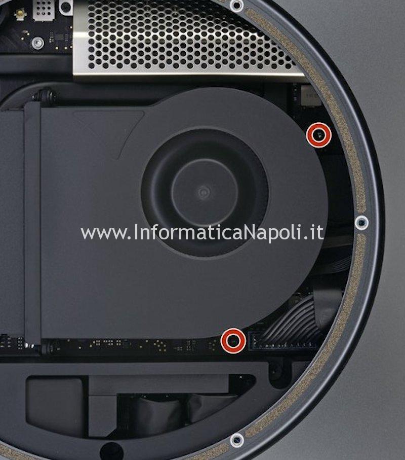 rimozione ventola mac mini 2018 A1993 EMC 3213
