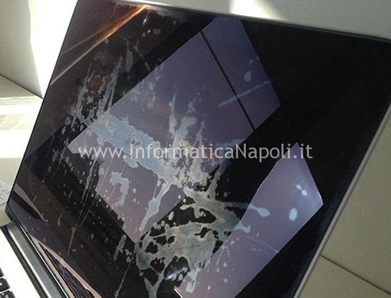 Pulizia schermo display retina screen coating damage staingate