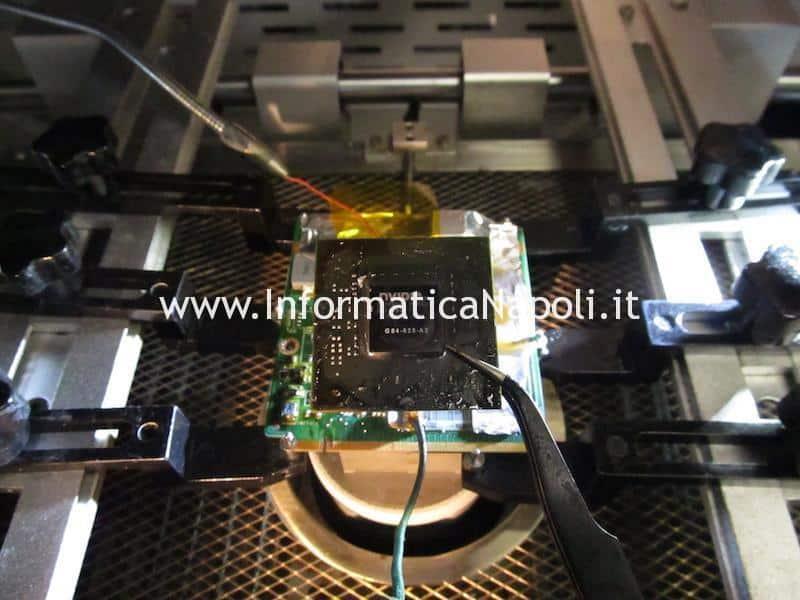 riparazione reballing Asus M50S scheda video mxm ii gf9500m 256mb