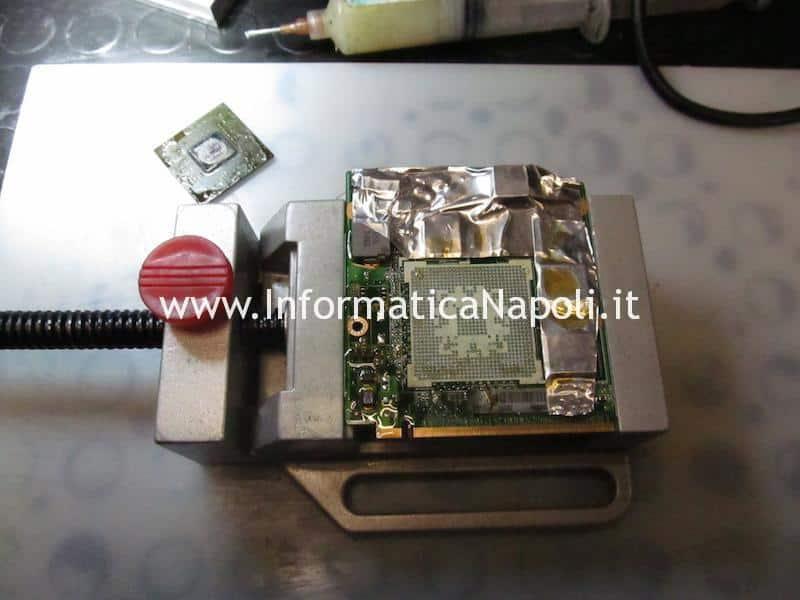 rework riparazione reballing Asus M50S scheda video mxm ii gf9500m 256mb