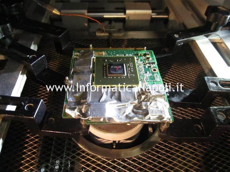 Reballing rework Asus M50S scheda video MXM II nVidia 9500m G84-625-A2 256mb