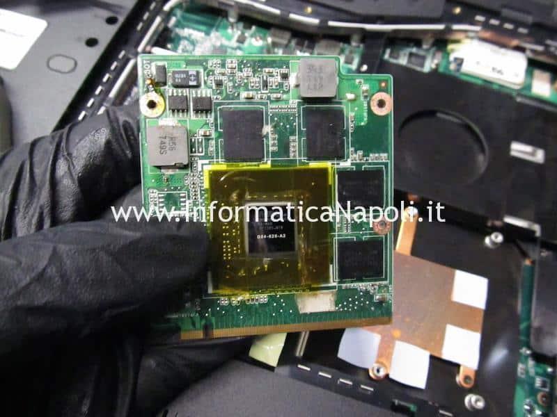 Asus M50S scheda video MXM II nVidia 9500m riparata funzionante
