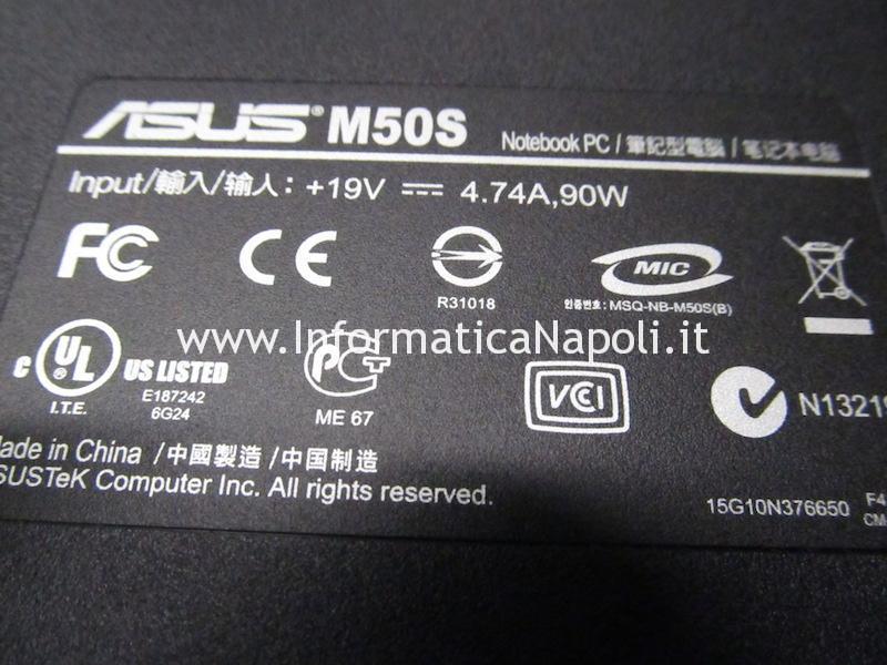 scheda madre Asus M50S riparata funzionante