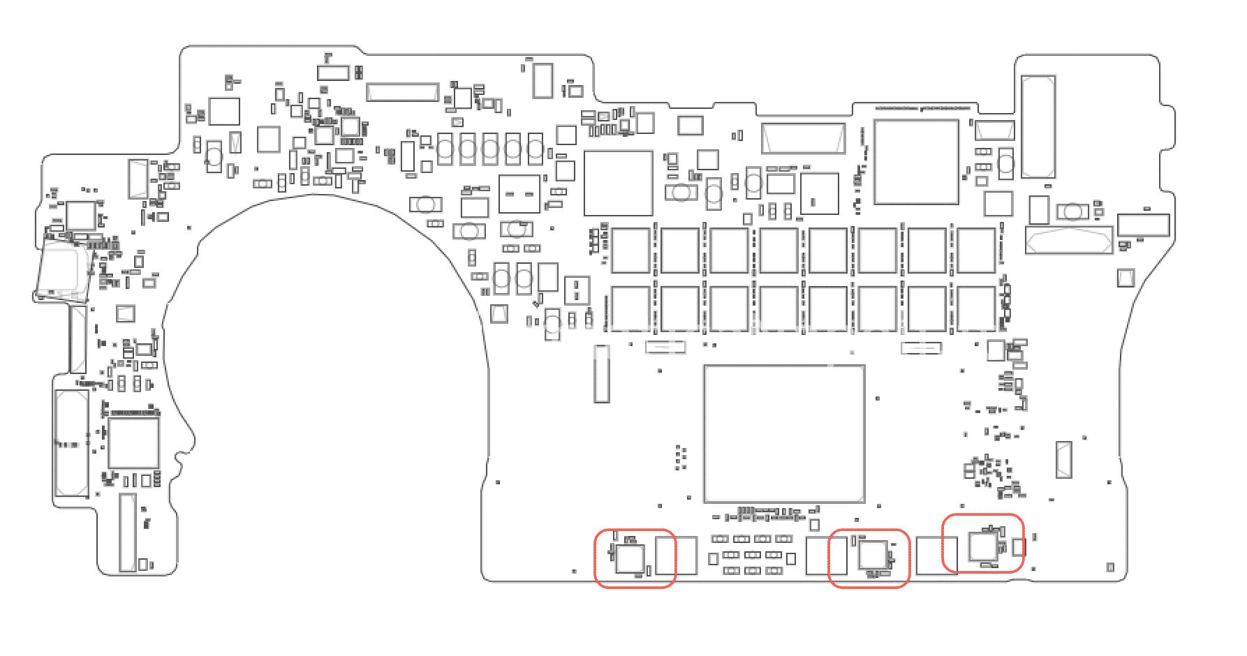 problema spegnimento improvviso macbook pro 15 retina 820-3662-A 2014 fasi synchronous buck DC-DC