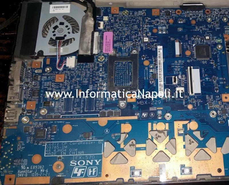 Problemi avvio Sony Vaio VPCY2 VPC-Y2 scheda madre MBX-229 Ripristino Bios