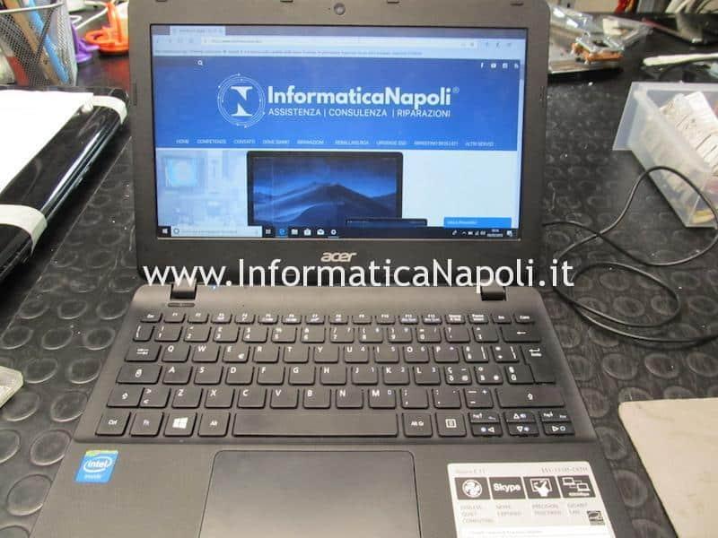 SSD eMMC HDD Acer Aspire ES1 hard disk sostituito