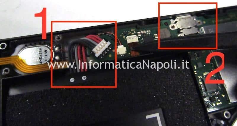 Batteria e connettore usb-c Nintendo switch