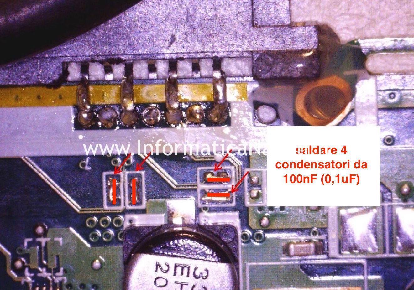 saldare condensatori connettore SATA Acer Aspire ES1