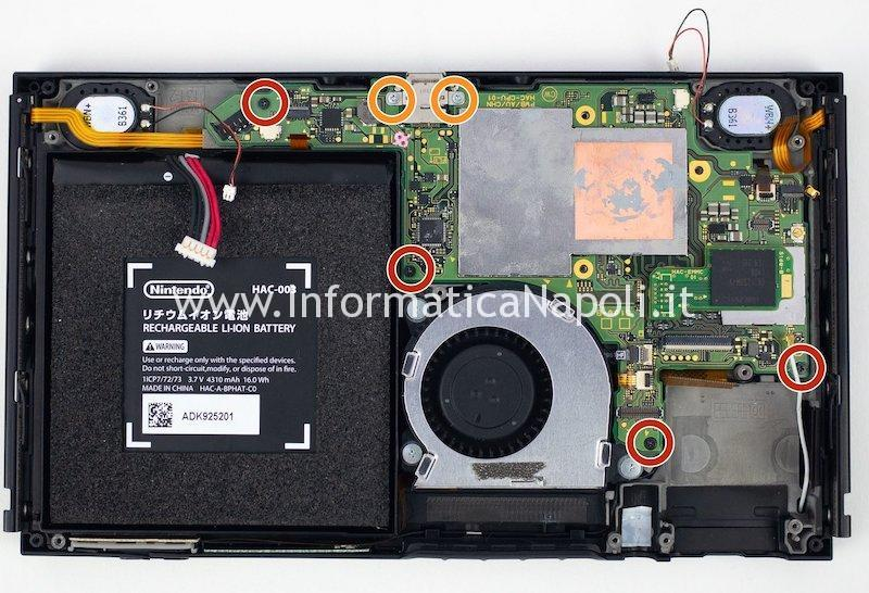 viti scheda madre switch P13USB chip ic audio video nintendo switch