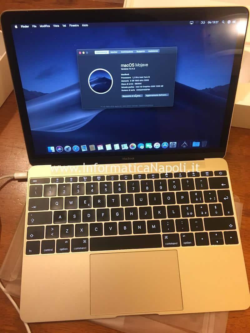 assistenza riparazione Apple MacBook retina 12 A1534