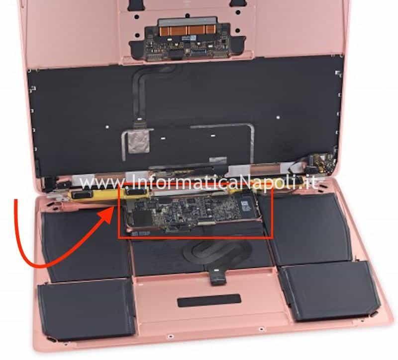 come riparare scheda logica Macbook 12