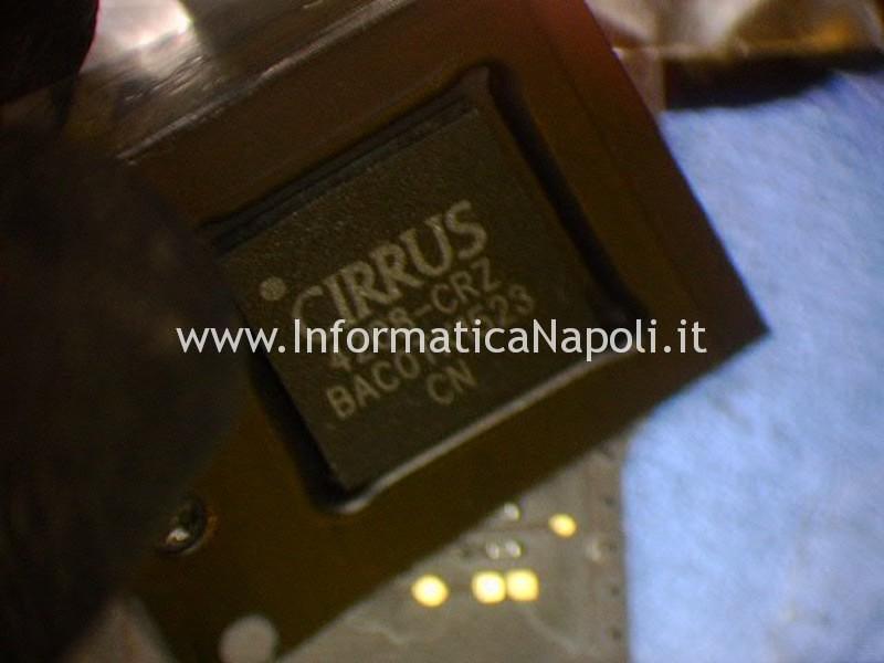 nessun suono macbook pro 15 A1398 2014 sostituzione chip cirrus