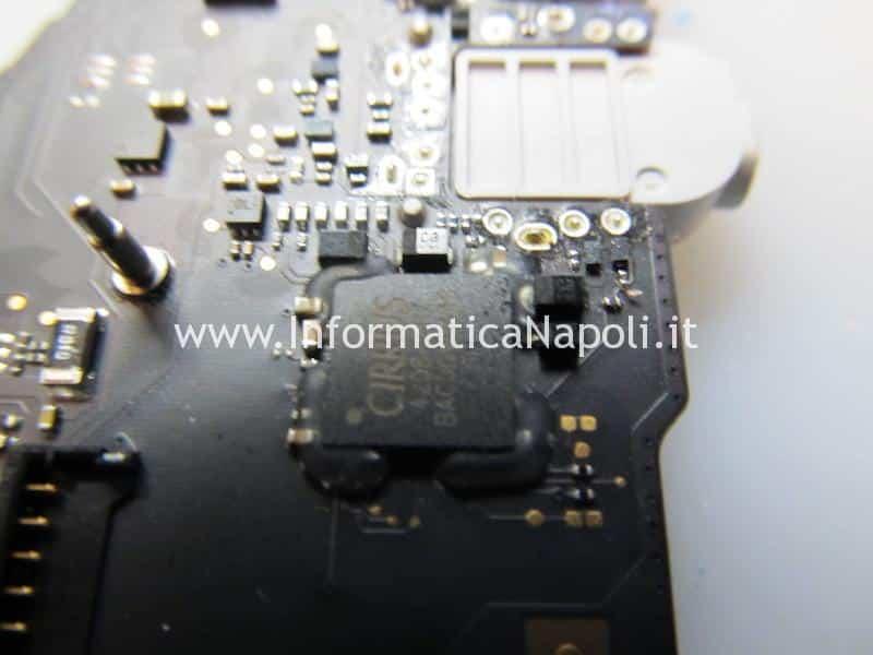 problema audio macbook pro 15 A1398 2014 2015 reballing chip suono cirrus