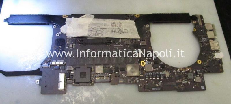 riparazione logica sostituzione chip audio macbook pro 15 retina A1398 2013 2014 2015