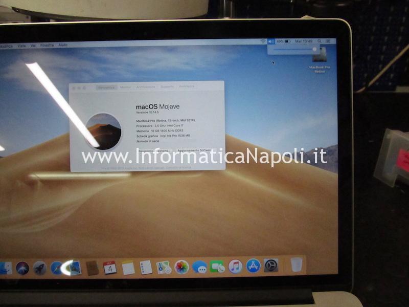 chip audio cirrus 4208-crz MacBook pro 15 retina A1398 sostituito funzionante