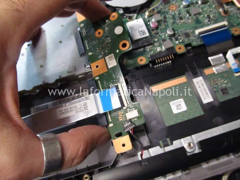 come riparare Asus X556U | F556U non vede disco X556Uj HDD BOARD v.2.0