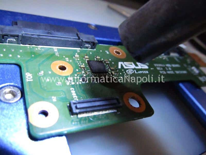 assistenza Asus X556U | F556Unon vede hard disk no audio X556Uj HDD BOARD v.2.0