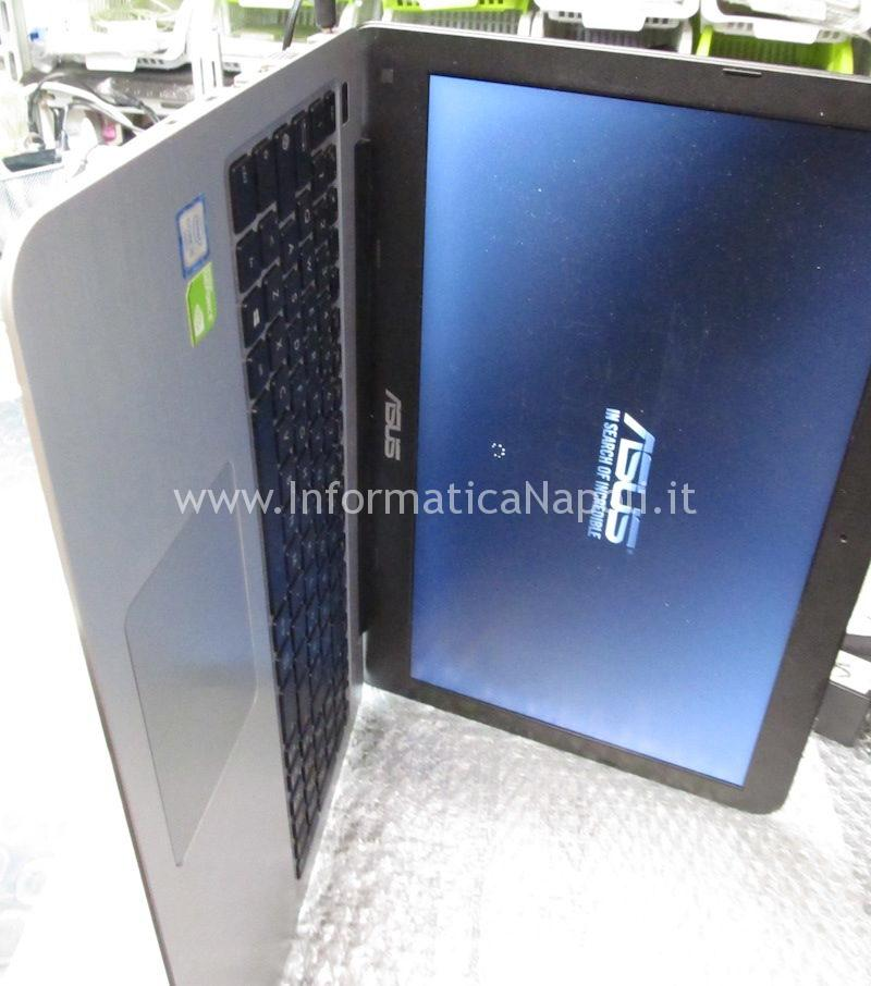 assistenza Asus X556U | F556U riparato hard disk funzionante audio si sente