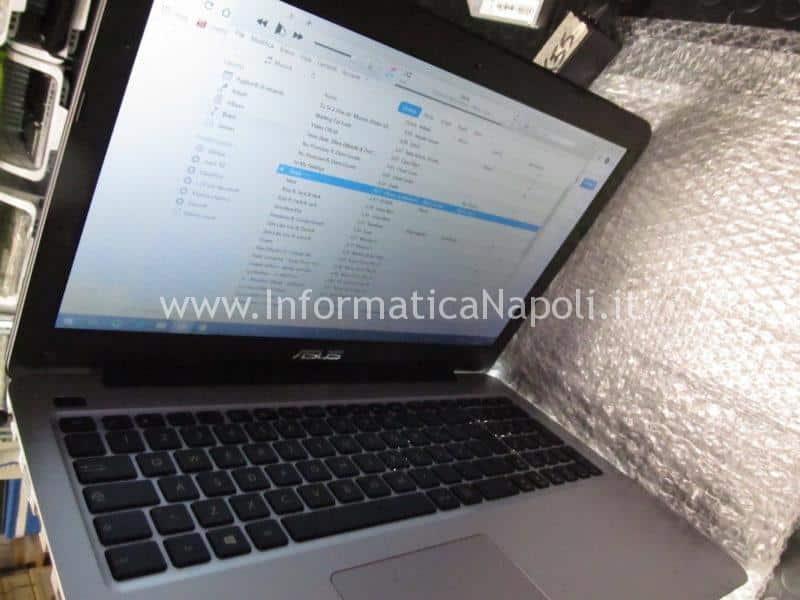 assistenza Asus X556U | F556U riparato hard disk viene visto audio si sente