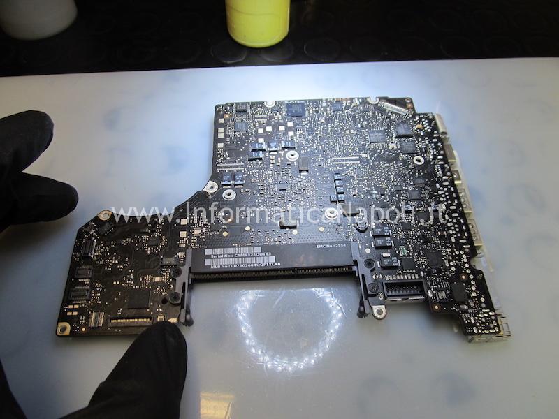 scheda logica macbook pro 13 820-3115-A 820-3115-B non rileva la batteria