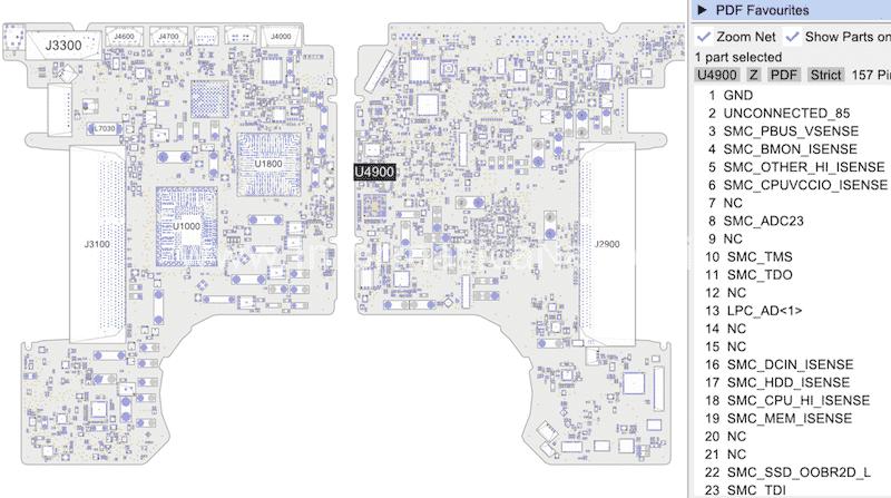 bird 820-3115-B Problema batteria non rilevata MacBook Pro 13 A1278 SMC U4900 820-3115-A 820-3115-B