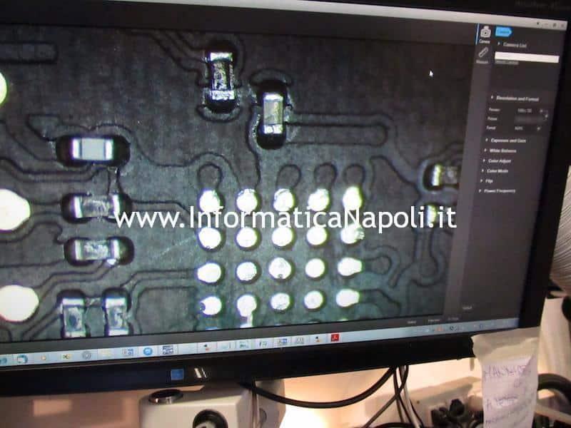 Pulizia pad scheda logica A1466 | A1369 | A1465 | A1370 | A1370 problema retroilluminazione schermo nero