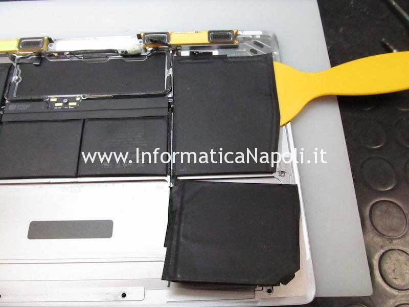 apple MacBook retina 12 A1534 2015 2016 2017 con batteria esaurita da sostituire