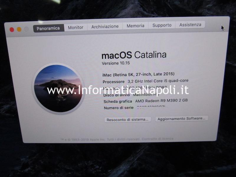come installare catalina macos fusion drive iMac SSD