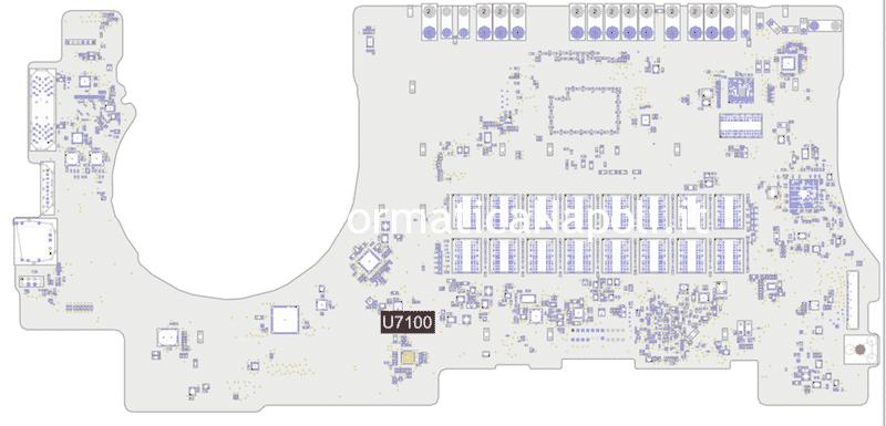 Problemi ricarica batteria MacBook Pro 15 A1398 late 2013 820-3662-A 6259AHRTZ ISL6259 ISL6259AHRTZ U7100