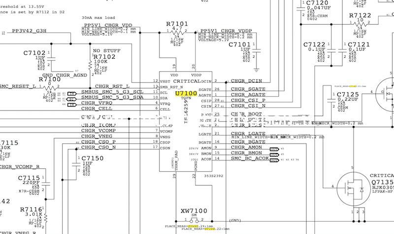Come riparare MacBook Pro 15 A1398 late 2013 820-3662-A 6259AHRTZ ISL6259 ISL6259AHRTZ U7100 che non carica batteria