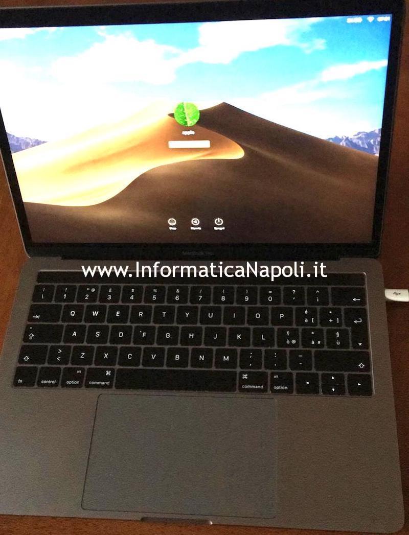 Cambiare tastiera in italiano macbook pro 13 touchbar a1706