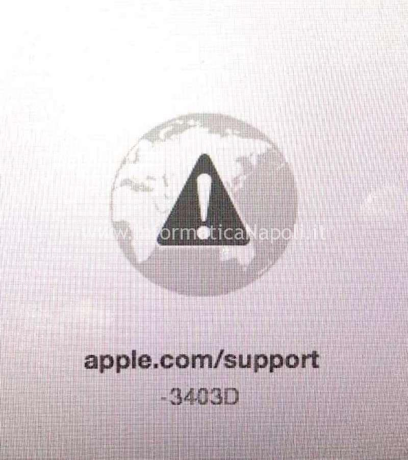 errore avvio diagnosi apple -3403D