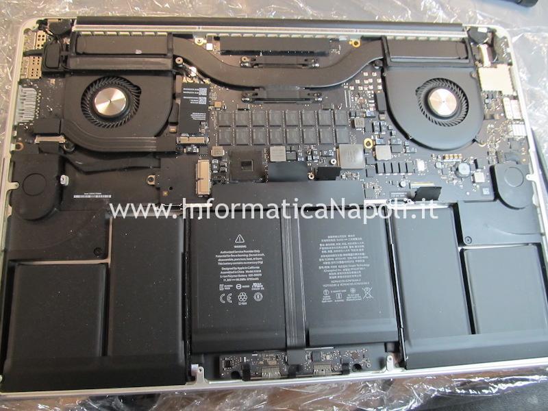 riparazione macbook pro 15 A1398 non rileva disco SSD dopo aggiornamento mojave catalina errore VDH002 820-00163 820-00138