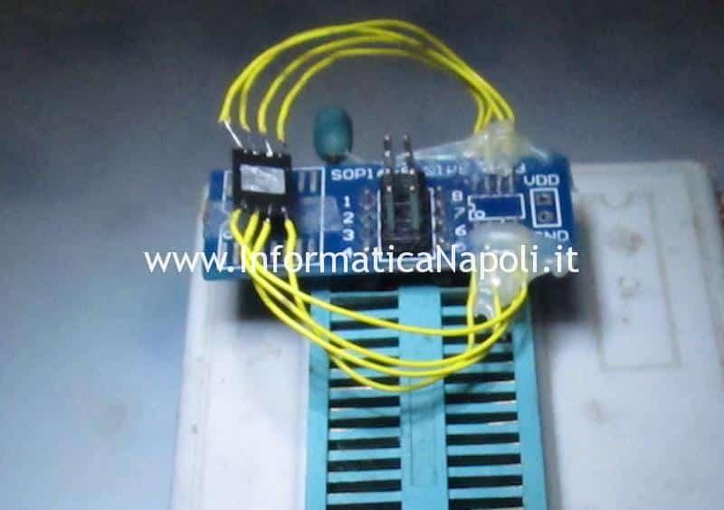 unlock sblocco efi A1398 ripristino bios macbook pro 15 A1398 non rileva disco SSD dopo aggiornamento mojave catalina errore VDH002 820-00163 820-00138