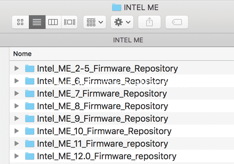 intel Me repository Bios Efi Mac iMac MacBook