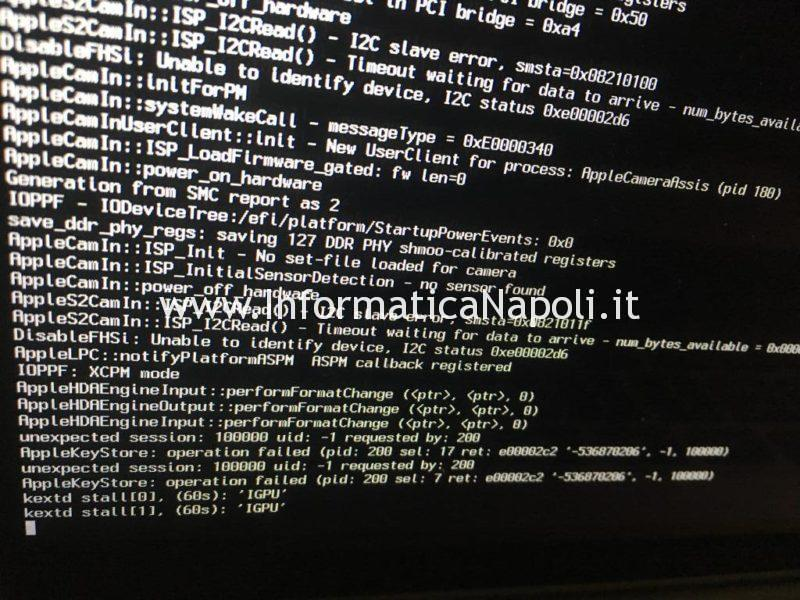 problema macbook pro 15 non sia avvia dopo aggiornamento mojave catalina