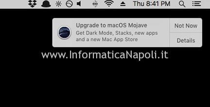 disattivare messaggio Aggiornamento MacOS