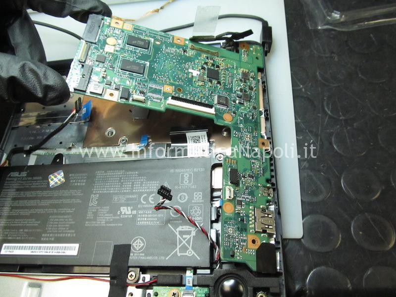 riparazione circuito ricarica bios Asus VivoBook E200H
